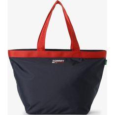 Shopper bag Tommy-jeans niebieski