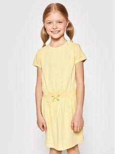 Polo Ralph Lauren Sukienka codzienna Play 312837203008 Żółty Regular Fit