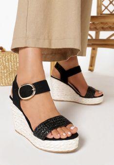 Czarne Sandały Pirethea