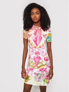 Desigual Sukienka letnia 21SWVKB9 Kolorowy Slim Fit