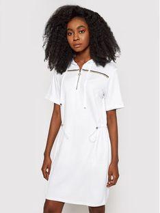 Liu Jo Sport Sukienka dzianinowa TA1147 J6176 Biały Regular Fit