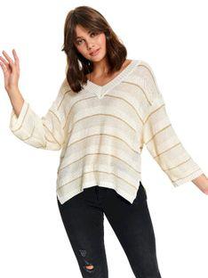 Luźny sweter w pasy