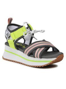 Pepe Jeans Sandały Fuji Laces PLS90506 Szary