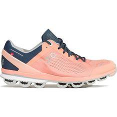 Buty sportowe damskie różowe On Running na wiosnę sznurowane