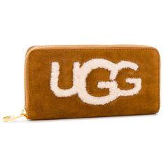 Duży Portfel Damski UGG - W Honey Zip Arnd Wallet Sheep 1093571  Che
