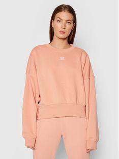 adidas Bluza adicolor Essentials H06659 Różowy Loose Fit