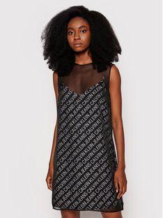 Calvin Klein Jeans Sukienka letnia J20J215676 Czarny Regular Fit