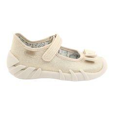 Befado obuwie dziecięce 109P206 beżowy złoty