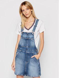 Tommy Jeans Sukienka jeansowa Classic DW0DW10111 Niebieski Regular Fit