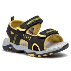 Sandały KANGAROOS - K-Logan 18338 000 5028 S Jet Black/Sun Yellow