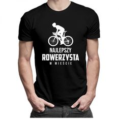 Najlepszy rowerzysta w mieście - męska koszulka z nadrukiem