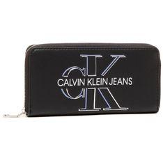 Duży Portfel Damski CALVIN KLEIN JEANS - Zip Around Glow K60K607631 BDS