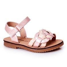 FR1 Dziecięce Sandały Z Wężowym Wzorem Różowe Baxlee