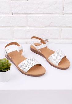 Sandały srebrne na płaskie 1 Willow