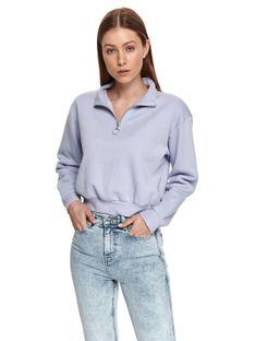 Krótka bluza z suwakiem