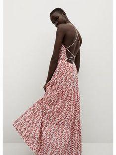 Mango Sukienka letnia Serenity 87039046 Biały Regular Fit