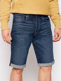 G-Star Raw Szorty jeansowe 3301 D17417-C529-B219 Granatowy Slim Fit
