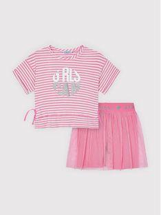 Mayoral Komplet t-shirt i spódniczka 3739 Różowy Regular Fit
