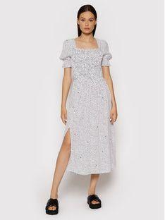 Tommy Jeans Sukienka letnia Smock DW0DW10369 Biały Regular Fit