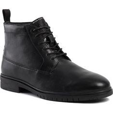 Buty zimowe męskie Mexx czarne sznurowane casual