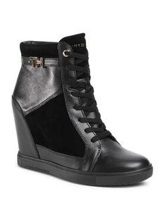 Tommy Hilfiger Sneakersy Hardware Sneaker Wedge FW0FW04303 Czarny