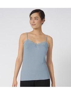 Triumph Koszulka piżamowa Climate Control 10207511 Niebieski