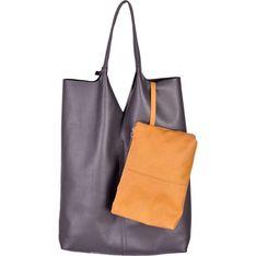 Shopper bag Designs Fashion lakierowana bez dodatków ze skóry