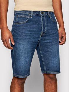 Lee Szorty jeansowe 5 Pocket L73EMGQA Granatowy Regular Fit