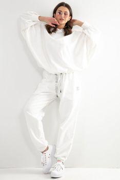 Dresy Bluza Oversize + Spodnie z Wysokim Stanem - Ecru