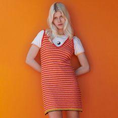 Reserved - Sukienka mini w paski - Wielobarwny