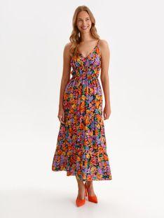 Sukienka maxi w kolorowe kwiaty