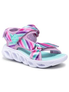 Skechers Sandały Rainbow Lights 20218L/PKMT Różowy