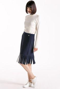 Wiskozowa spódnica z plisowaniem