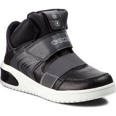 Geox buty zimowe dziecięce czarne trzewiki z tworzywa sztucznego