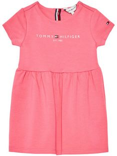 Tommy Hilfiger Sukienka codzienna Essential KN0KN01304 Różowy Regular Fit