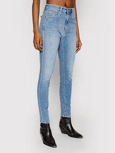 Calvin Klein Jeans Jeansy High Rise J20J215390 Niebieski Skinny Fit