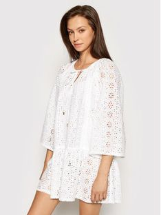 Melissa Odabash Sukienka plażowa Corina CR Biały Relaxed Fit