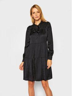 Trussardi Sukienka koszulowa Satin 56D00463 Czarny Regular Fit