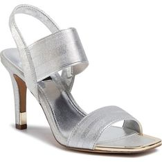 Sandały damskie DKNY srebrny