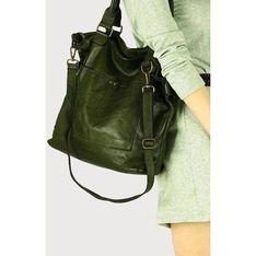 Shopper bag Merg ze skóry na ramię