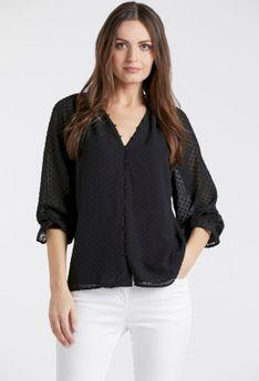 Elegancka bluzka z tłoczonym wzorem