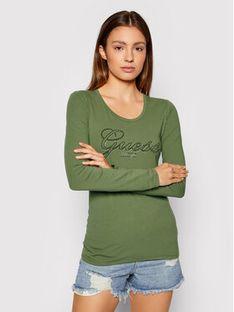Guess Bluzka Raisa W1YI90 J1311 Zielony Slim Fit
