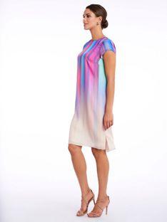 Wielokolorowa sukienka Potis & Verso RAINBOW