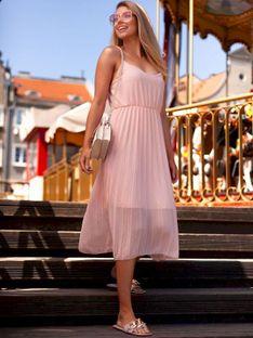Sukienka damska 023DLR - różowa