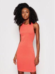 Armani Exchange Sukienka codzienna 8NYA94 YJB3Z 1663 Pomarańczowy Slim Fit