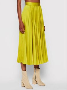 TwinSet Spódnica plisowana 212TP2441 Żółty Regular Fit