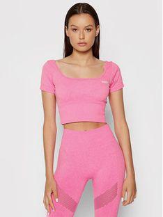 Guess Bluzka O1BA16 ZZ04M Różowy Slim Fit