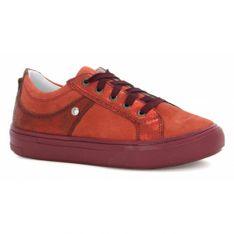 Półbuty Bartek T-55992/v13, Dla Dziewcząt, Czerwono-Pomarańczowy