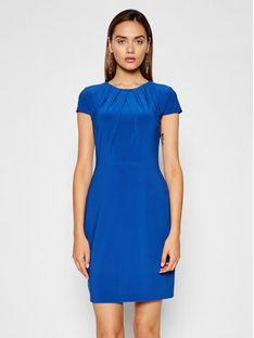 Lauren Ralph Lauren Sukienka koktajlowa 250837438002 Niebieski Regular Fit