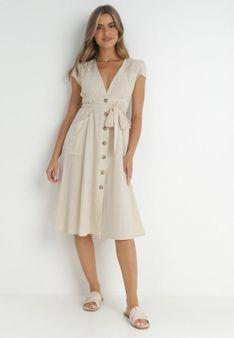 Jasnobeżowa Sukienka Laraidah